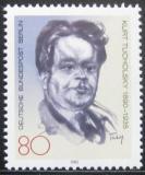 Poštovní známka Západní Berlín 1985 Kurt Tucholsky, spisovatel Mi# 748