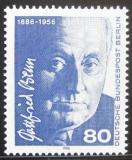 Poštovní známka Západní Berlín 1986 Gottfried Benn, spisovatel a lékař Mi# 760
