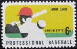 Poštovní známka USA 1969 Profesionální baseball Mi# 992