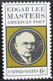 Poštovní známka USA 1970 Edgar Lee Masters, básník Mi# 1007