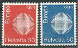 Poštovní známky Švýcarsko 1970 Evropa CEPT Mi# 923-24