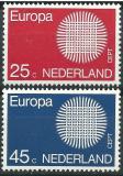 Poštovní známky Nizozemí 1970 Evropa CEPT Mi# 942-43