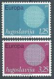 Poštovní známky Jugoslávie 1970 Evropa CEPT Mi# 1379-80
