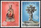 Poštovní známky Andorra Šp. 1974 Evropa CEPT Mi# 88-89