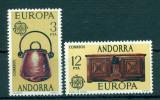 Poštovní známky Andorra Šp. 1976 Evropa CEPT Mi# 101-02