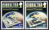 Poštovní známky Gibraltar 1984 Evropa CEPT Mi# 475-76