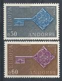 Poštovní známky Andorra Fr. 1968 Evropa CEPT Mi# 208-09 Kat 20€