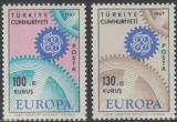 Poštovní známky Turecko 1967 Evropa CEPT Mi# 2044-45