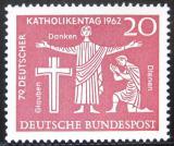 Poštovní známky Německo 1962 Setkání katolíků Mi# 381