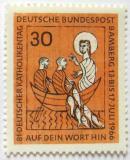 Poštovní známka Německo 1966 Setkání německých katoliků Mi# 515