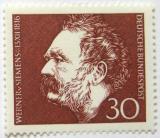 Poštovní známka Německo 1966 Werner von Siemens Mi# 528
