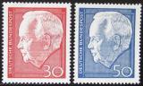 Poštovní známky Německo 1967 Prezident Heinrich Lübke Mi# 542-43