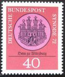 Poštovní známka Německo 1972 Katedrála Würzburg Mi# 752