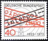 Poštovní známka Německo 1973 INTERPOL, 50. výročí Mi# 759