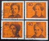 Poštovní známky Německo 1974 Slavné ženy Mi# 791-94