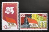 Poštovní známka DDR 1976 Kongress SED Mi# 2123-24
