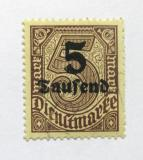 Poštovní známka Německo 1923 Služební, přetisk Mi# 89
