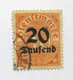 Poštovní známka Německo 1923 Služební, přetisk Mi# 90