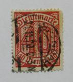 Poštovní známka Německo 1920 Služební, nominál Mi# 28