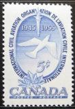 Poštovní známka Kanada 1955 ICAO, 10. výročí Mi# 303