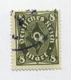 Poštovní známka Německo 1922 Poštovní trumpeta Mi# 229