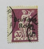 Poštovní známka Německo 1920 Sklizeň, přetisk Mi# 122