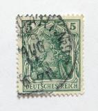 Poštovní známka Německo 1905 Germania Mi# 85 I