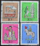 Poštovní známky Německo 1969 Cínové hračky Mi# 604-07
