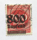 Poštovní známka Německo 1923 Nominál, přetisk Mi# 303 Kat 100€