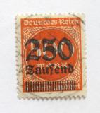 Poštovní známka Německo 1923 Nominál, přetisk Mi# 296 Kat 25€