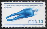 Poštovní známka DDR 1985 MS v jízdě na bobech Mi# 2923