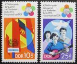 Poštovní známky DDR 1973 Festival mládeže Mi# 1829-30