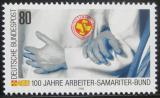 Poštovní známka Německo 1988 Záchrannná služba Mi# 1394