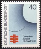 Poštovní známka Německo 1973 Gymnastický festival Mi# 763