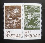 Poštovní známky Faerské ostrovy 1984 Pohádky,pár Mi# 109-10 Kat 11€