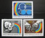 Poštovní známky DDR 1975 Světový rok Braille Mi# 2090-92