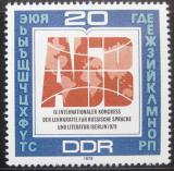 Poštovní známka DDR 1979 Kongres učitelů ruštiny Mi# 2444