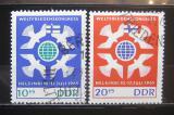Poštovní známky DDR 1965 Mírový kongres Mi# 1122-23