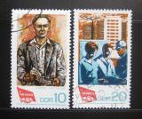 Poštovní známky DDR 1968 Kongres odborů Mi# 1363-64