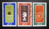 Poštovní známky DDR 1969 Světová mistrovství Mi# 1491-93