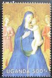 Poštovní známka Uganda 1989 Umění Mi# 760