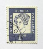Poštovní známka Západní Berlín 1961 Anette von Droste-Hulshoff Mi# 212