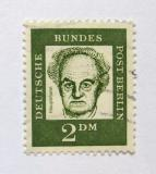 Poštovní známka Západní Berlín 1962 Gerhart Hauptmann Mi# 213 Kat 6.5€