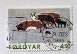 Poštovní známka Faerské ostrovy 1996 Umění, grafika Mi# 305