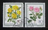 Poštovní známky Švýcarsko 1977 Růže Mi# 1114-15