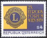 Poštovní známka Rakousko 1979 Evropské fórum Lions Mi# 1624