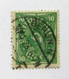Poštovní známka Německo 1923 Poštovní trubka Mi# 232