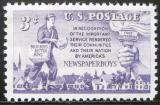 Poštovní známka USA 1952 Chlapec s novinami Mi# 634