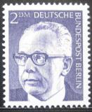 Poštovní známka Západní Berlín 1971 Prezident Heinemann Mi# 370
