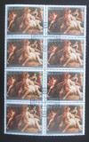 Poštovní známky Paraguay 1988 Umění, Correggio, blok Mi# 4232